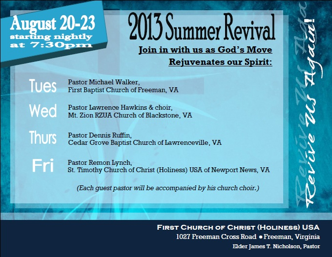 2013 Summer Revival