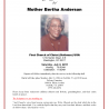 Homegoing Celebration for Mother Bertha Anderson