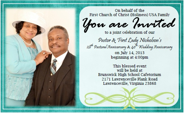 Pastor First Lady Nicholson S 28th Pastoral Anniversary 40th