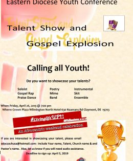 2019 EDYC Talent Show and Gospel Explosion