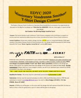EDYC 2020 T-Shirt Contest Forms