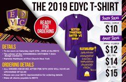 EDYC 2019 T-shirt Ordering