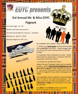 3rd Annual Mr. & Miss EDYC  Pageant