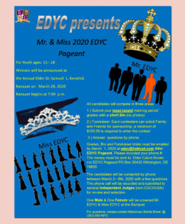 Mr & Miss 2020 EDYC Pageant